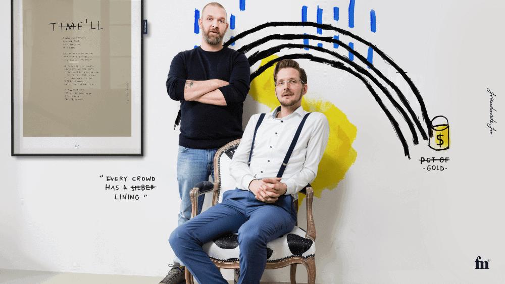 Stijn van der Pol und Kevin Bäumer von Friendmade haben den DIGITALHUB für ein Interview besucht, Foto: Simon Hecht, Bearbeitung: Stijn van der Pol