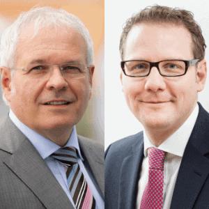 CDO Friedrich Fuß und Mirko Hied von der SWB