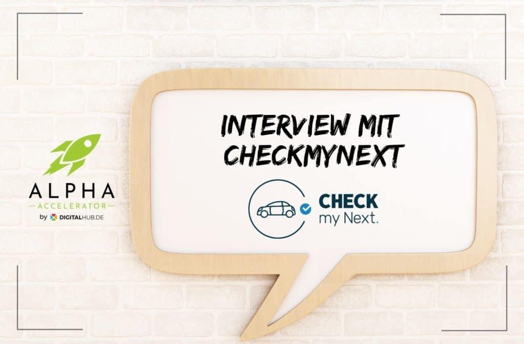 Startup Interview CheckmyNext