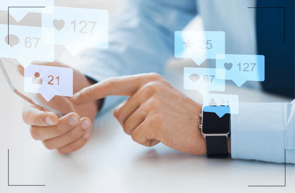Soziale Medien Pandemie
