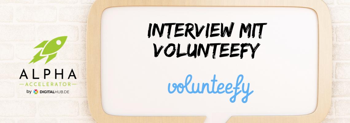 Interview volunteefy startup