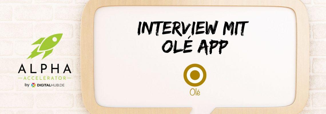 Startup Interview mit Olé App